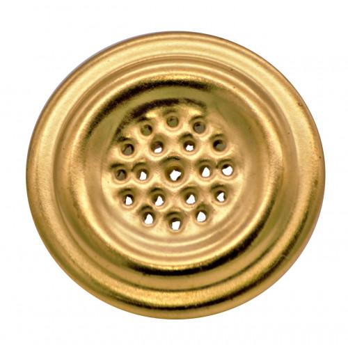 #VL40 VENT 24c GOLD PLTD/S.BRASS GRILL/ZP EYELET