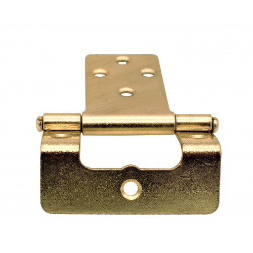 STEEL CRANKED HINGE 50MM BRASS