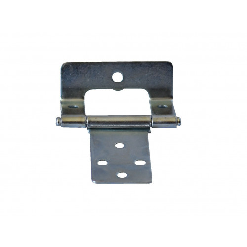 STEEL CRANKED HINGE 50MM WHITE ZINC