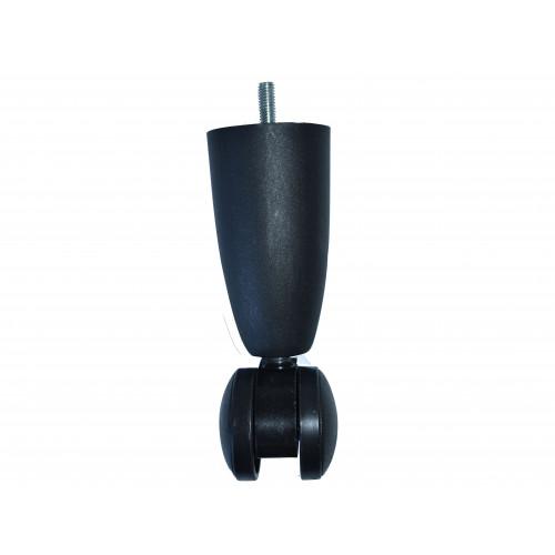 150mm BLACK PLASTIC LEG/CASTOR - M8
