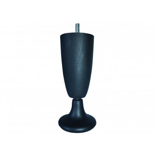 150mm BLACK PLASTIC LEG/GLIDE - M8