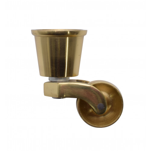 #32mm ROUND CUP CASTOR SOLID BRASS