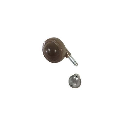 #50mm BROWN Z/A BALL CASTOR 46/SKT