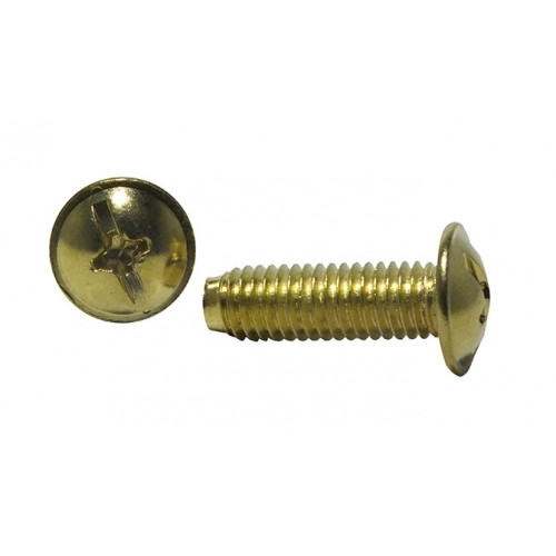 #M6 x 20mm MUSH HEAD BRASSED BOLT