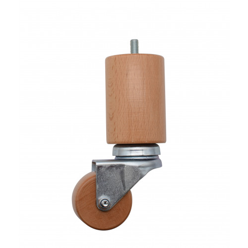 #150mm NATURAL LEG WITH WHEEL - M8