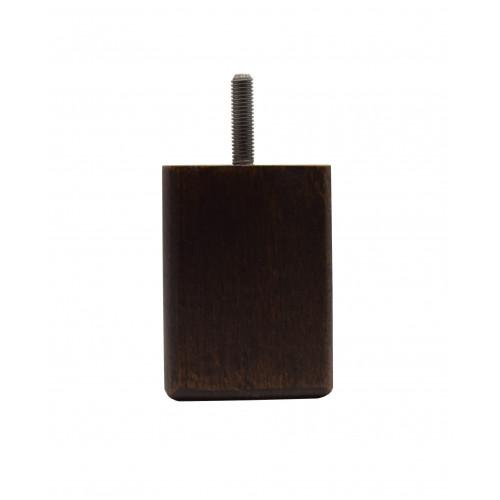 #75mm(H) x 55mm/55mm WALNUT LEG (M8) - BOX of 100